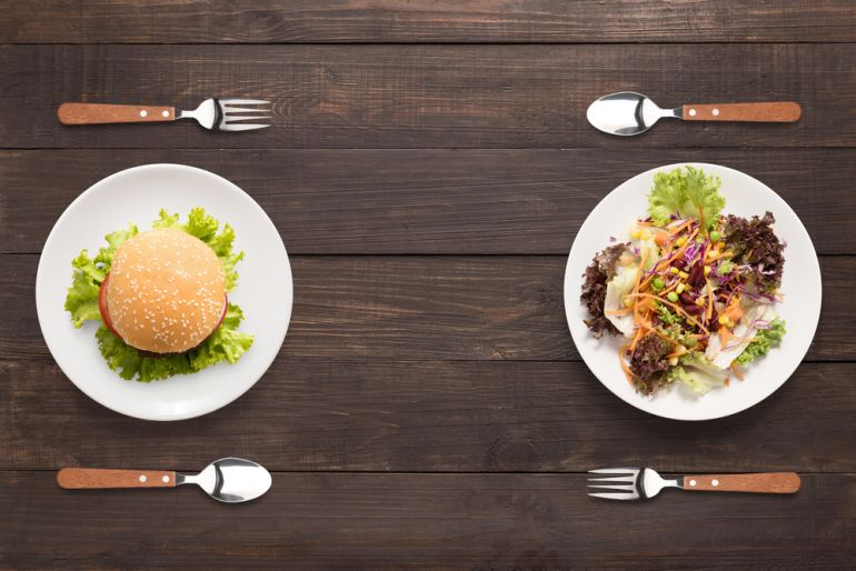 junk vs healthy shutterstock 417892732
