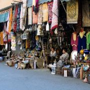 The wall of the Medina, old town Sale, northwestern Morocco