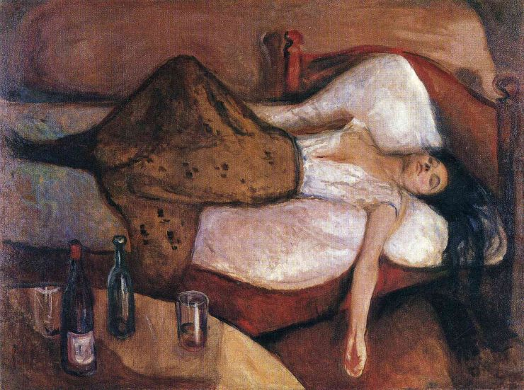 the day after by edvard munch