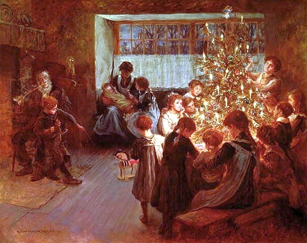 albert chevallier tayler the christmas tree 1911