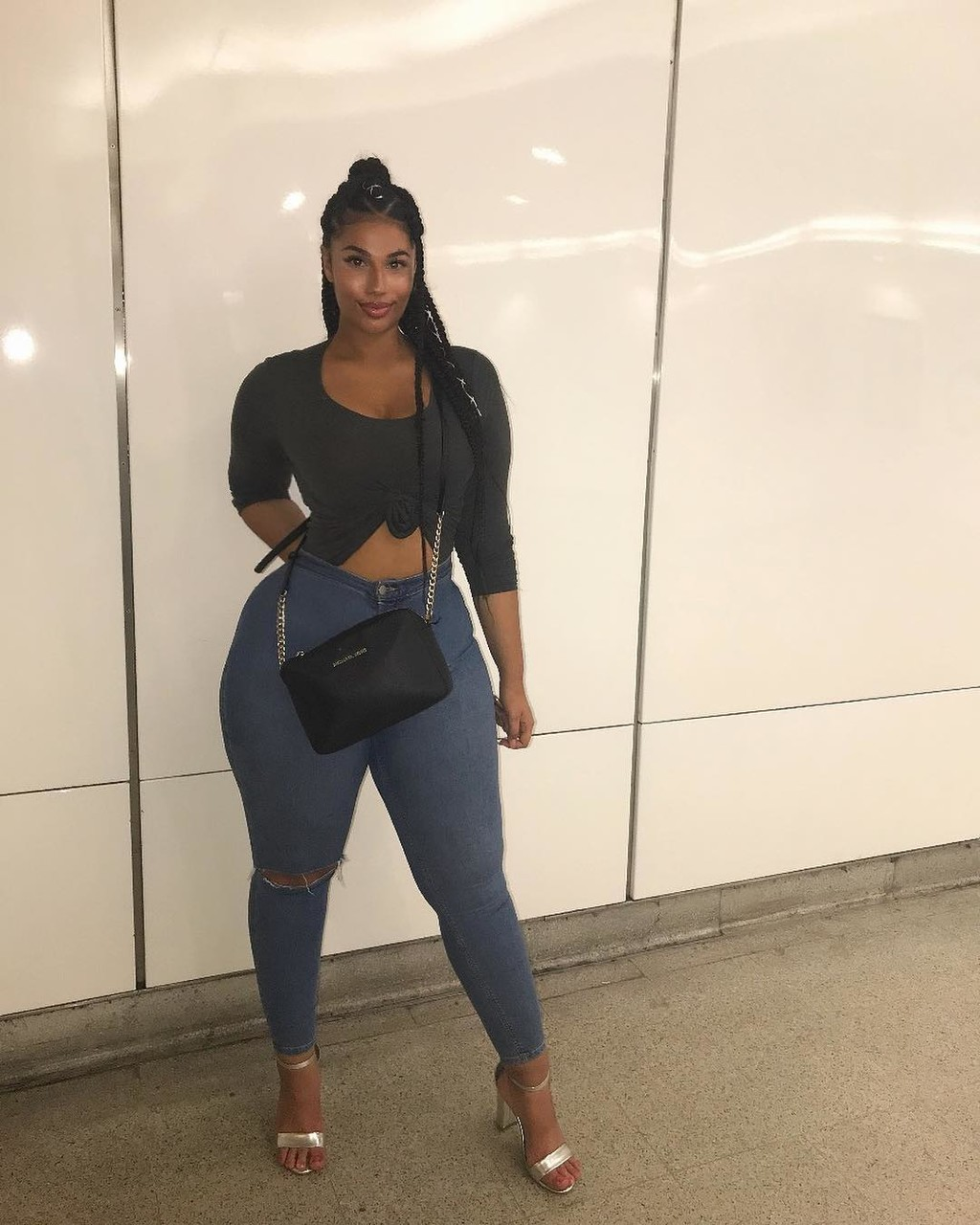 Zadek mladých černých dívek