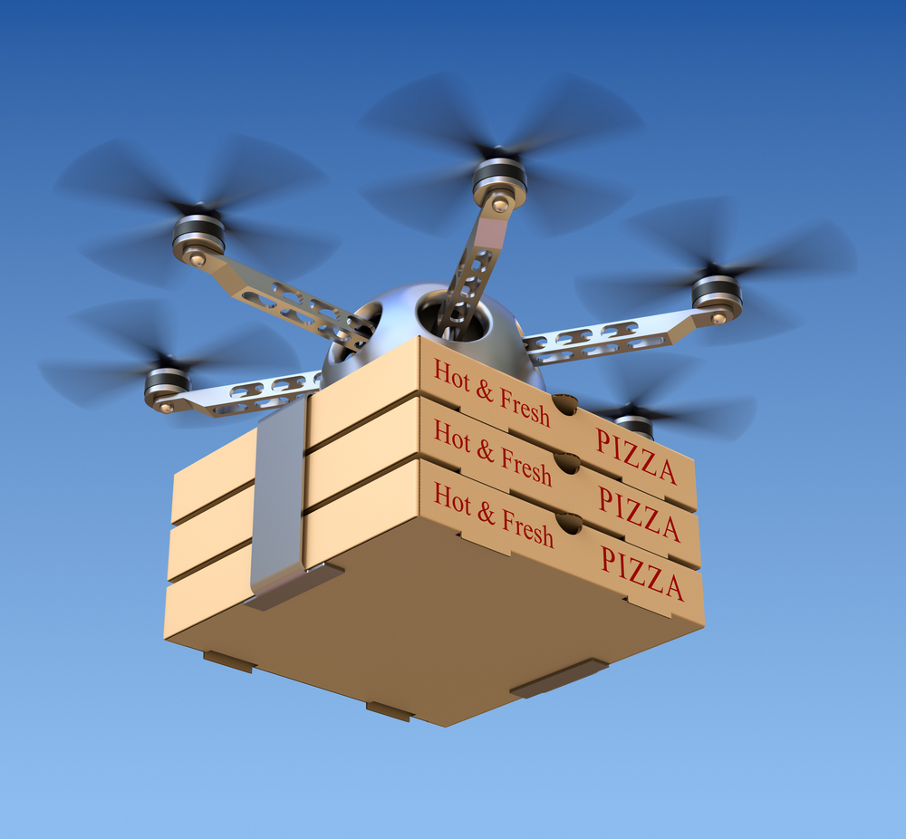 Už ani krok. Jídlo si objednáme z 3D menu. Doručí ho dron či samořídící auto