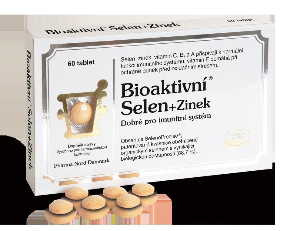 Čistý, organicky vázaný selen na kvasnice (SelenoPrecise) se zinkem a vitaminy A, B6, C a E